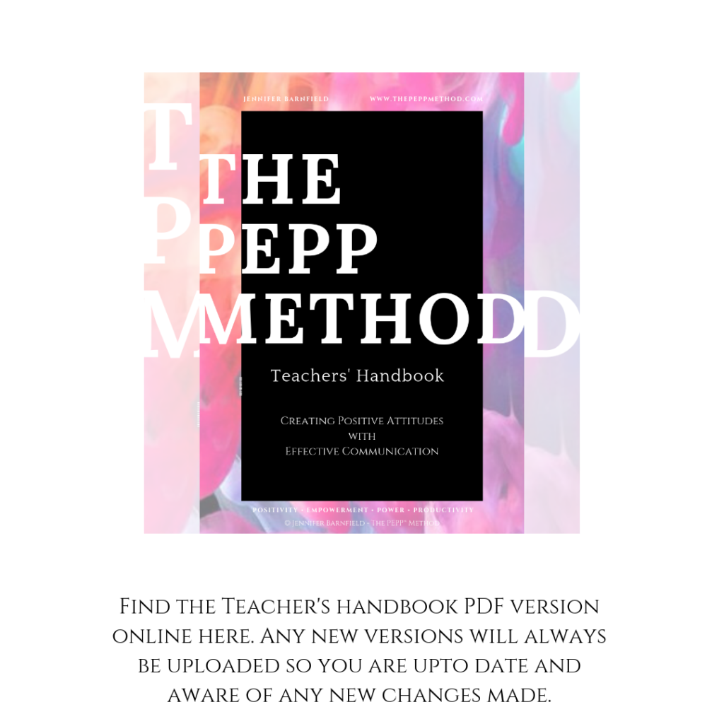 Teachers' Handbook - Jennifer Barnfield - The PEPP Method