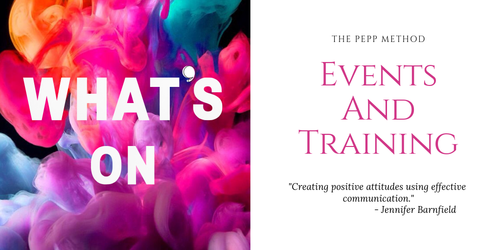 Training and Events - Jennifer Barnfield - The PEPP Method